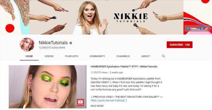 NikkieTutorials vlogs on beauty