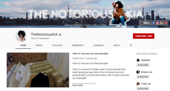Notorious KIA vlog on fashion