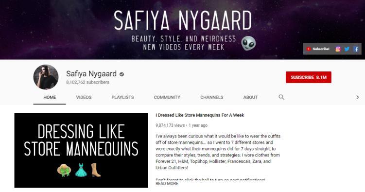 Sophia Nygaard vlogs on beauty