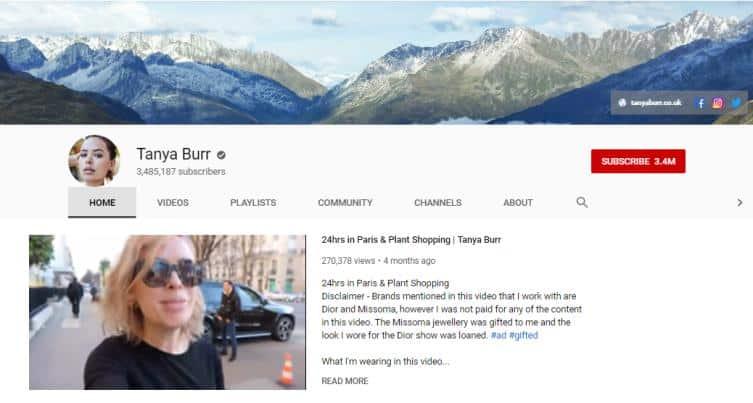 Tanya Burr vlogs on fashion