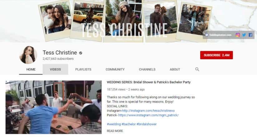 Tess Christine vlog on fashion