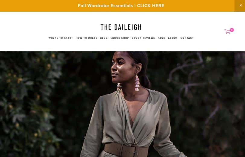 The Daileigh website for fashion