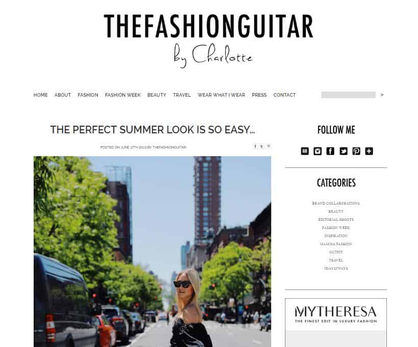 The Fashion Guitar website for fashion