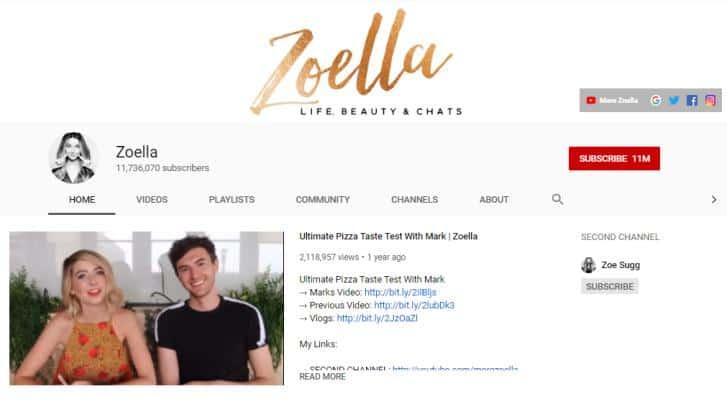 Zoe Sugg vlogs on fashion