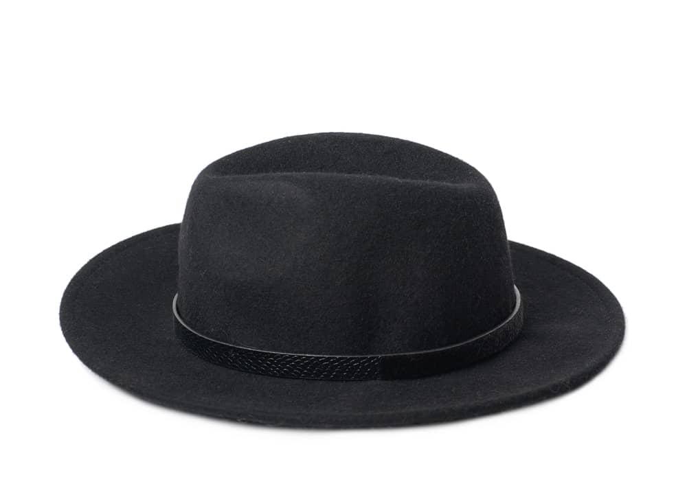 A Black Homburg Hat