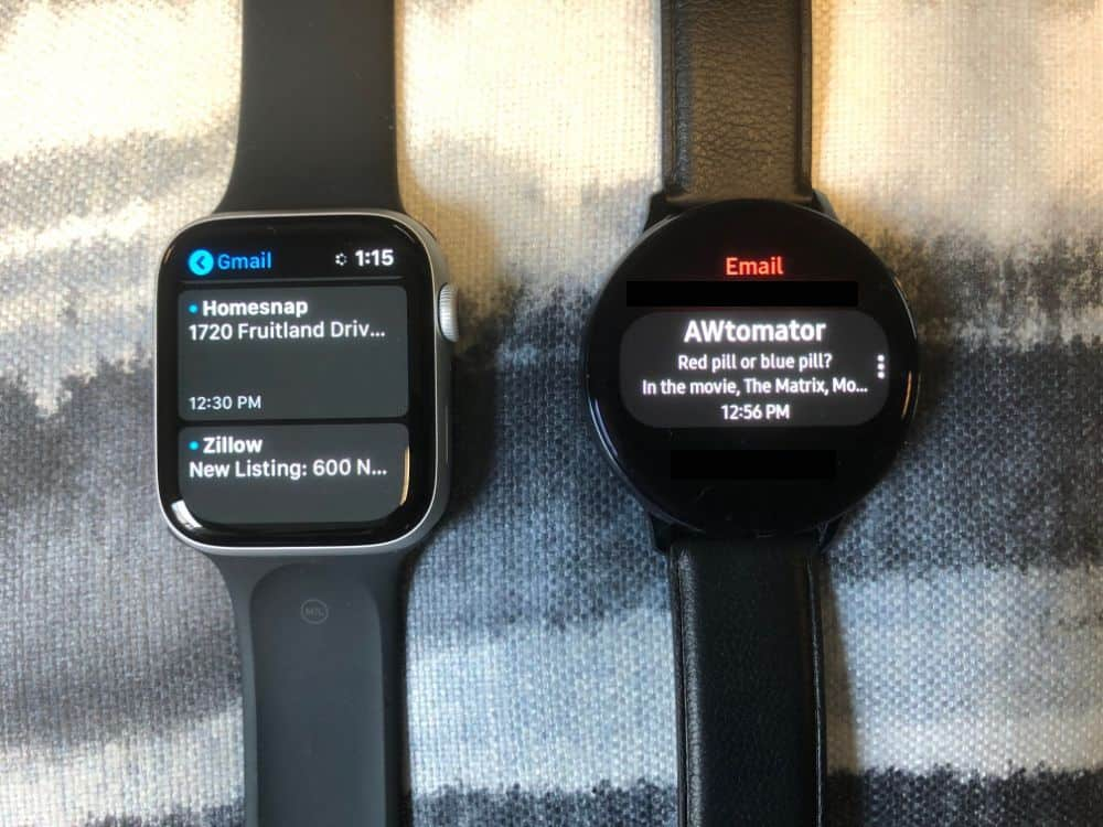 Apple Watch Email vs. Samsung Galaxy Active2 Email Comparison