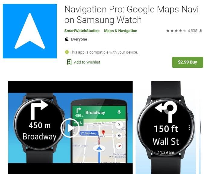 Screenshot of Navigation Pro.