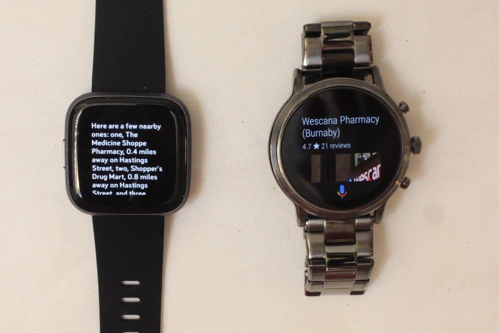Fitbit Versa 2 vs Fossil Gen 5 Alexa and Google Assistant