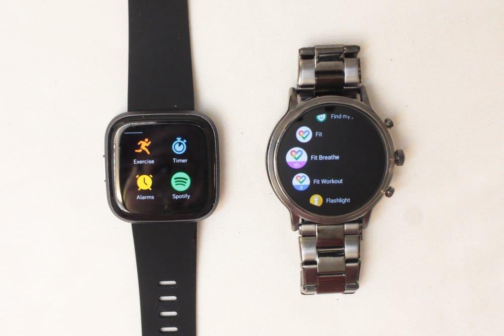 Fitbit Versa 2 vs Fossil Gen 5 apps