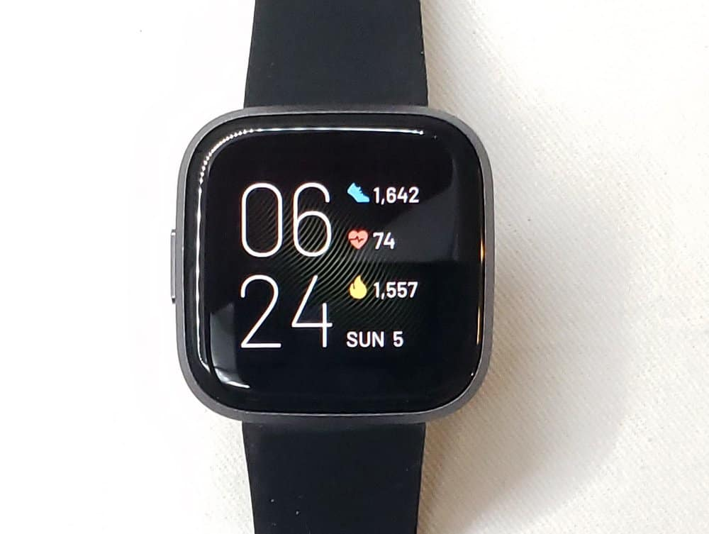 Fitbit Versa 2 default watch face