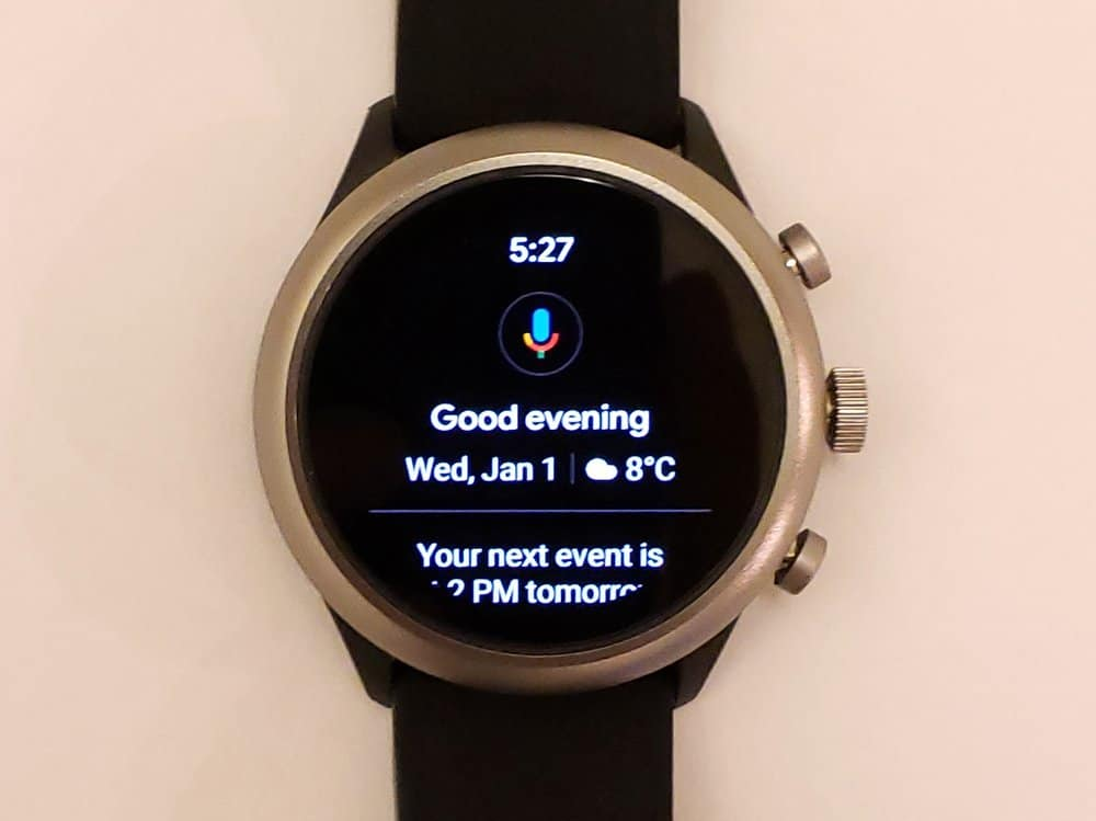 fossil sport smartwatch google assistant