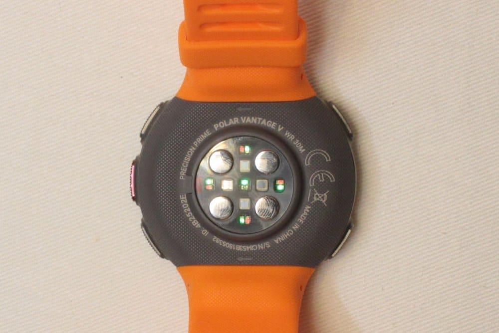 Polar Vantage V Heart rate sensor with five LEDs