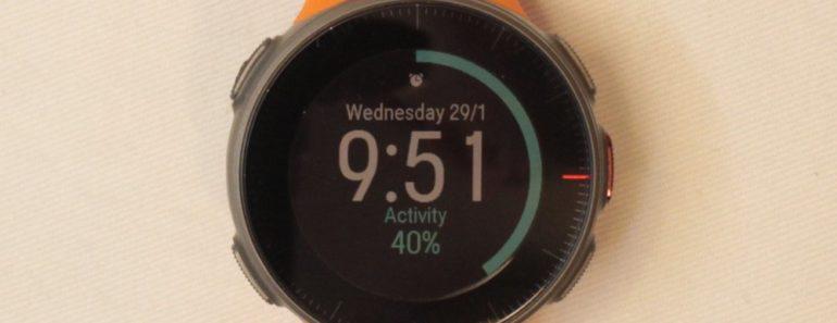 Polar Vantage V activity gauge