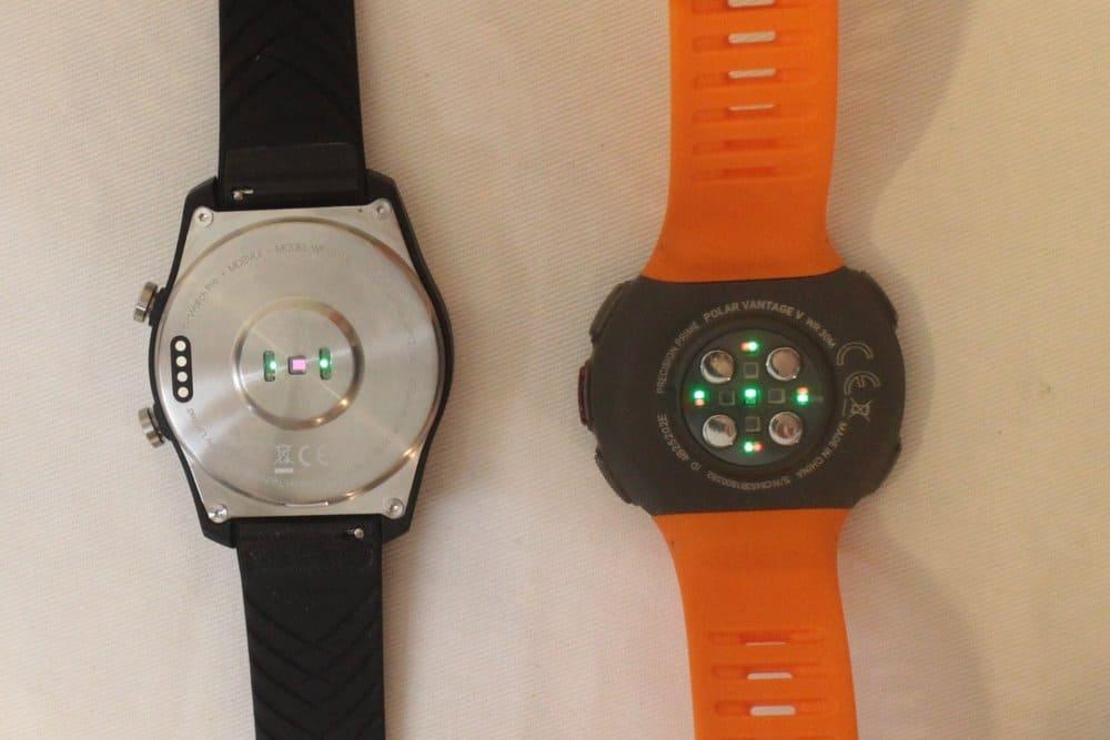 Polar Vantage V and Ticwatch Pro heart rate sensor