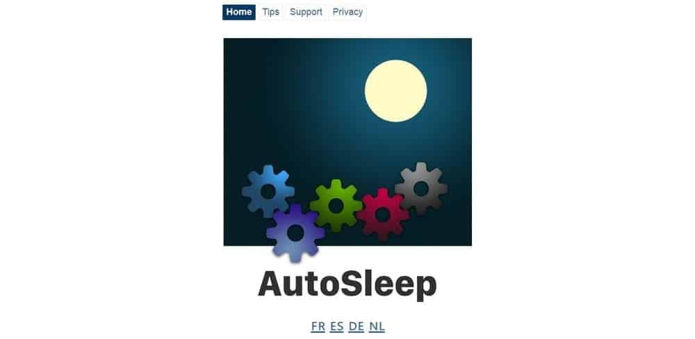 Screenshot of the Autosleep Tracker app.