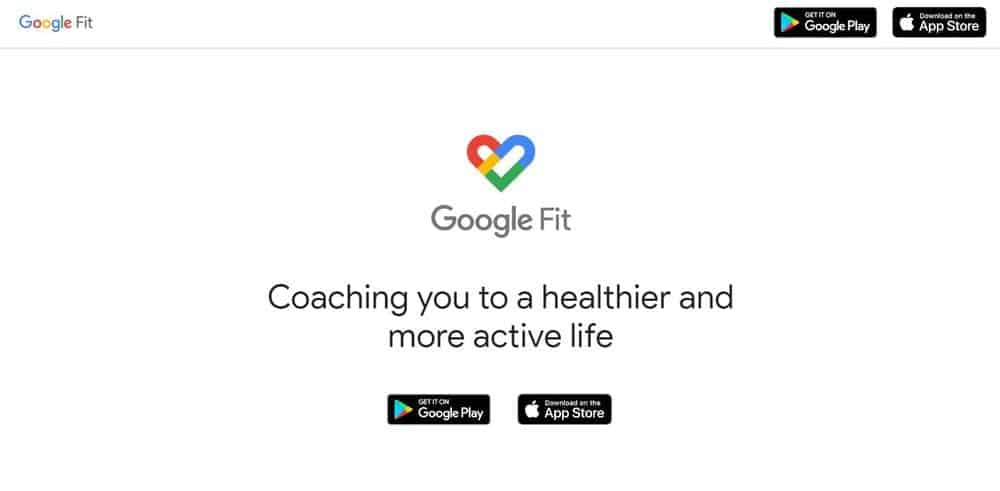 Screenshot of the Google Fit app.