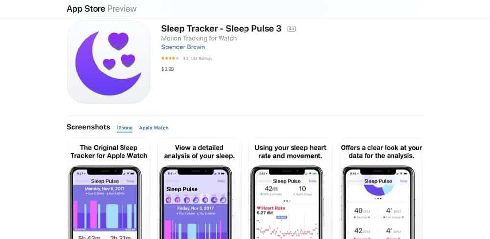 Screenshot of the Sleep Pulse 3 app.