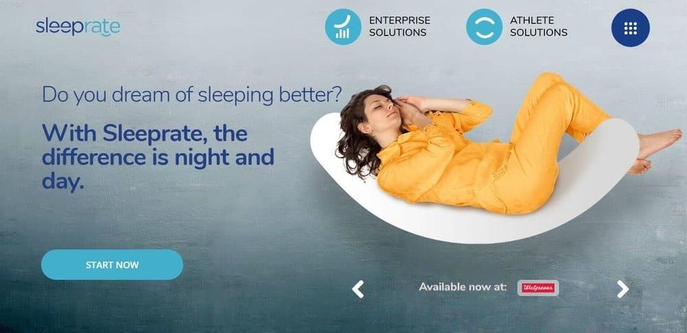 Screenshot of the Sleeprate app.