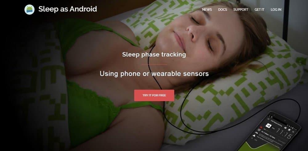 Screenshot of the Urbandroid app.