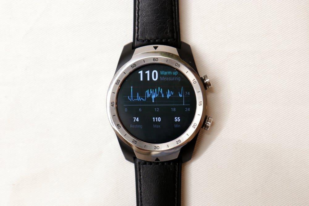 Ticwatch Pro heart rate sensor