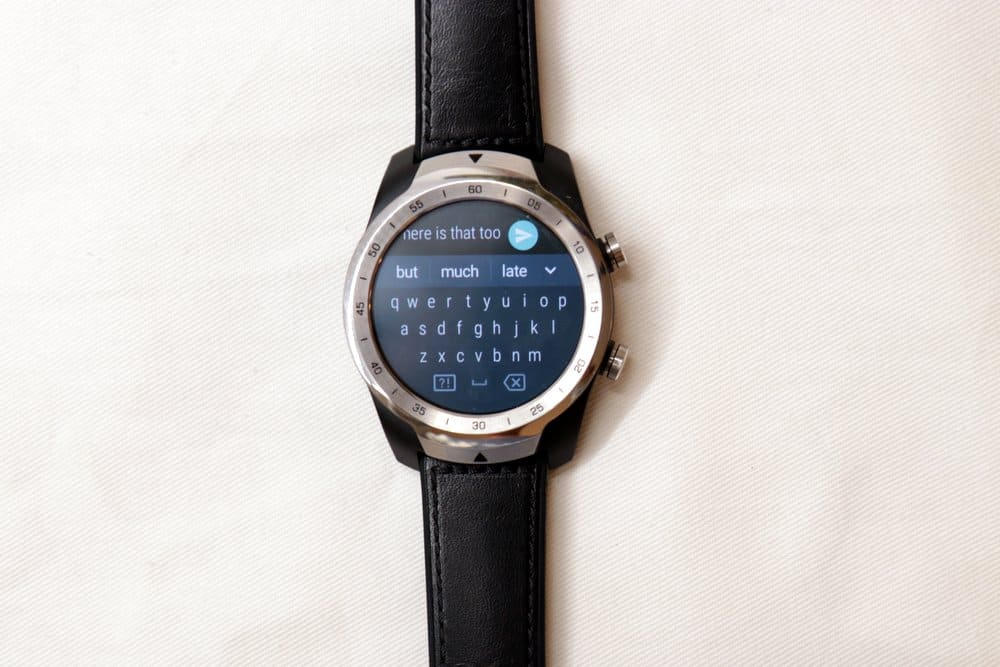 Ticwatch Pro texting