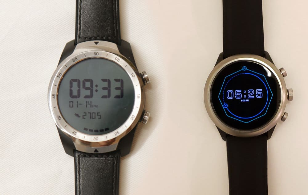 Ticwatch Pro, Fossil Sport Smartwatch always on mode