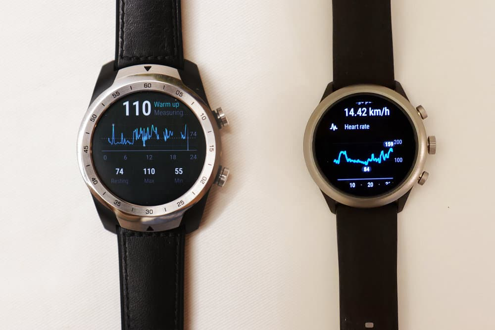 Ticwatch Pro, Fossil Sport Smartwatch heart rate sensor