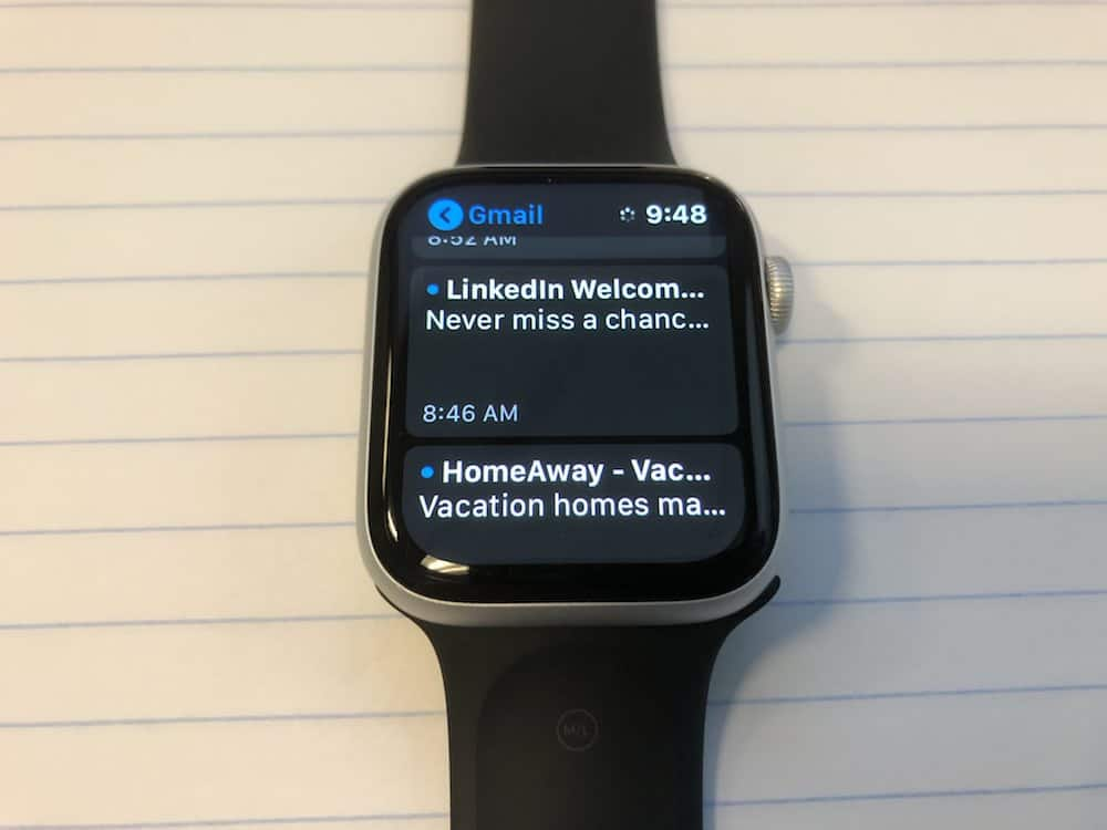 Email app on Apple Watch Series 5