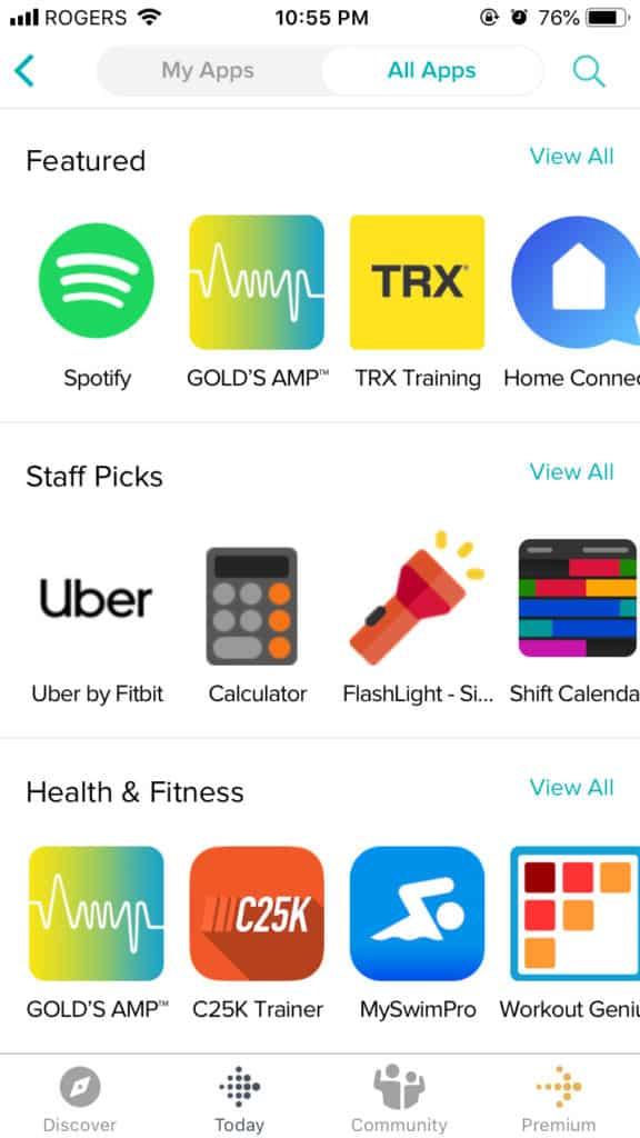 fitbit versa 2 apps