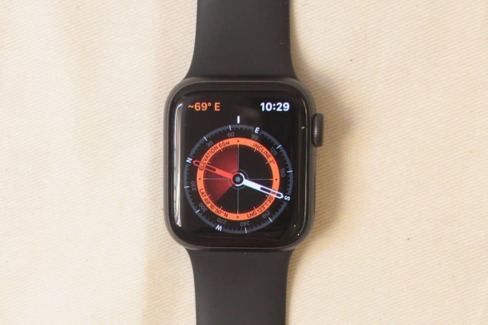 Apple Watch Series 5 compass app
