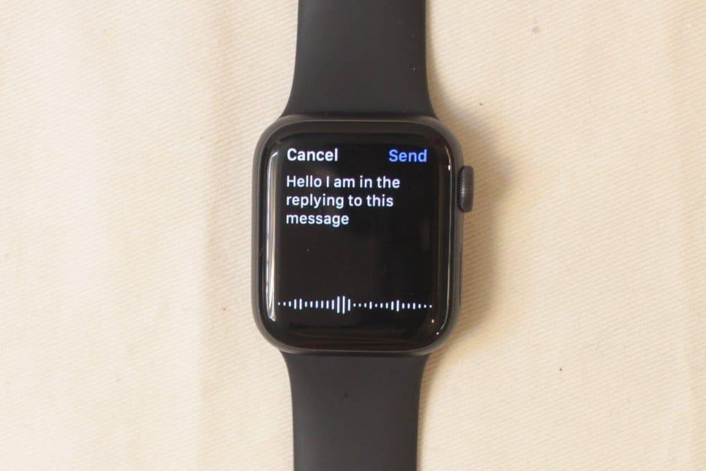 Apple Watch Series 5 voice input