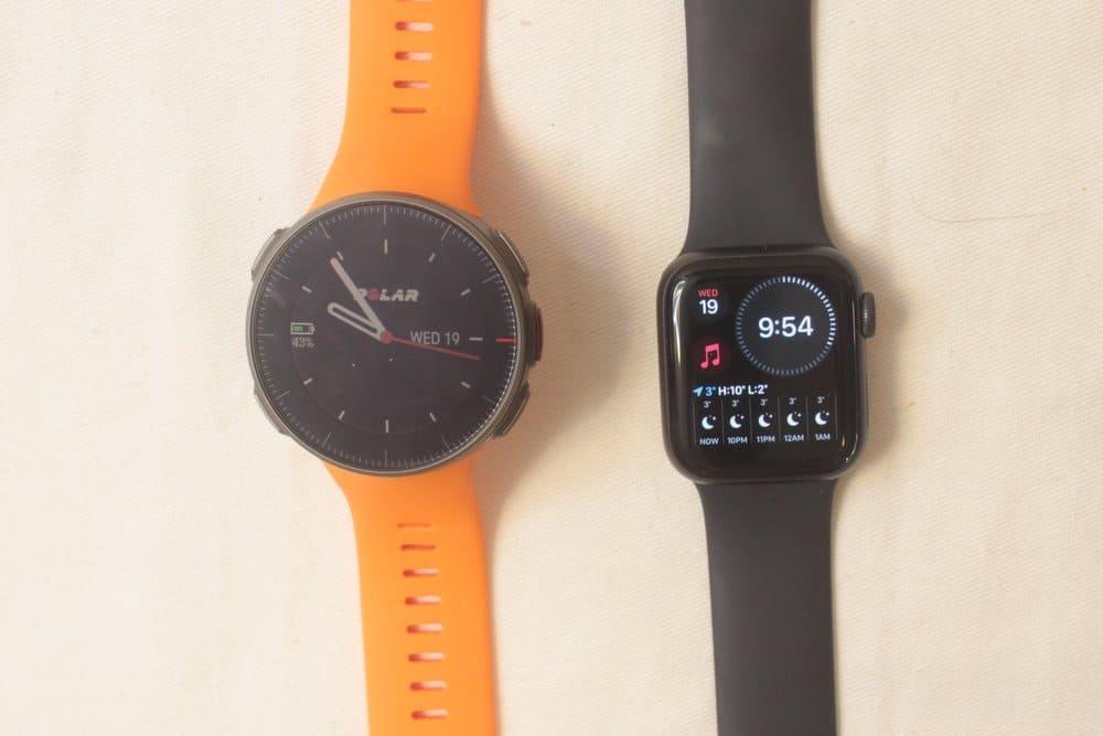 apple watch series 5 polar vantage v main screen