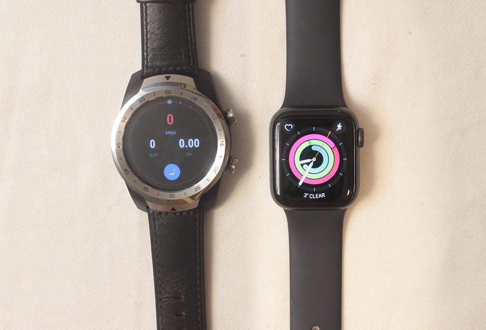 ticwatch pro vs apple watch series 5 tichealth rings