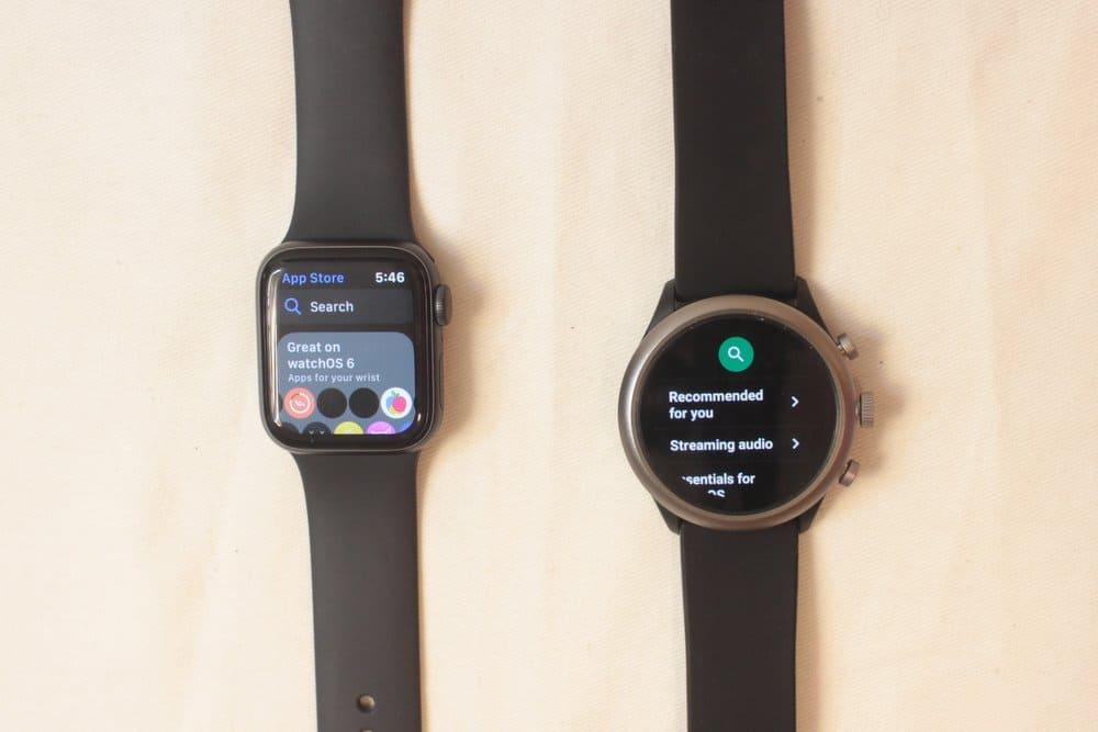 apple watch series 5 vs fossil sport smartwatch app store