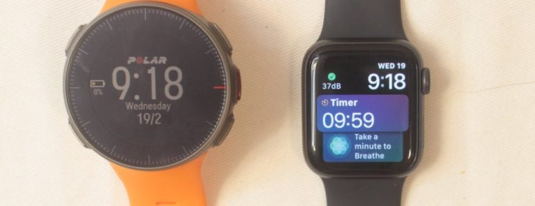 polar vantage v apple watch 5 main screen