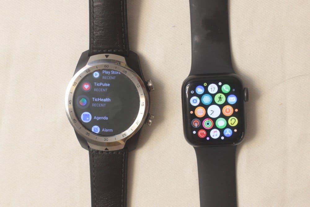 ticwatch pro vs apple watch series 5 apps