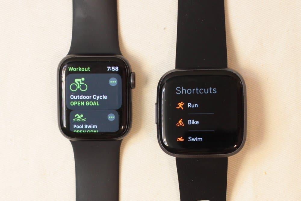 apple watch series 5 fitbit versa 2 exercise