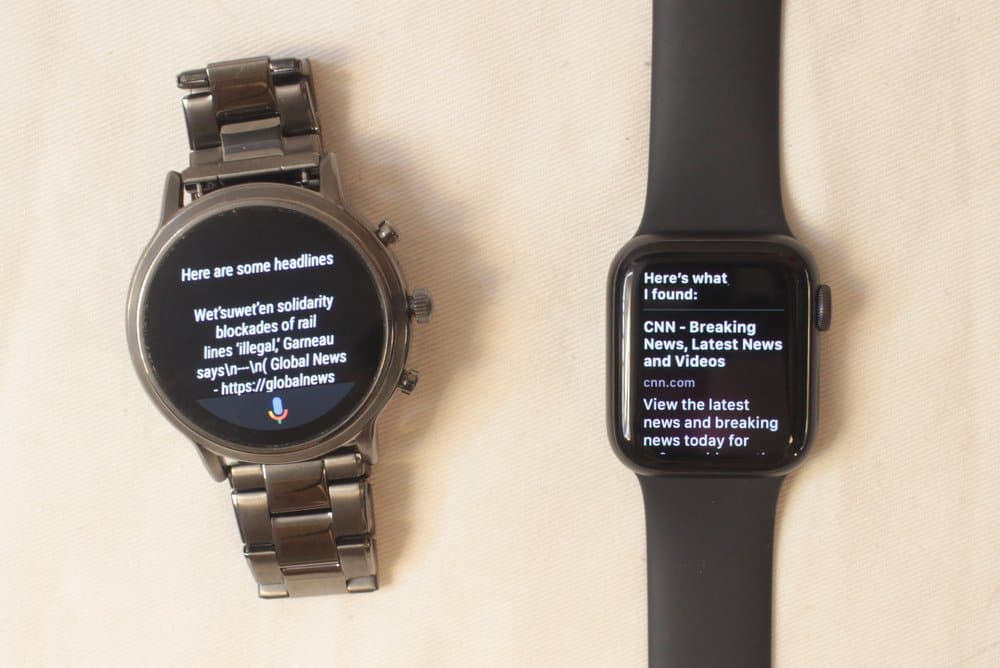fossil gen 5 carlyle vs apple watch series 5 search function