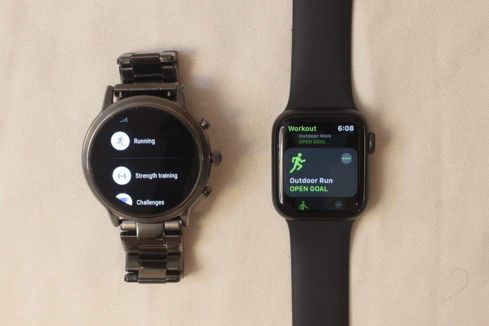 fossil gen 5 carlyle vs apple watch series 5 workout