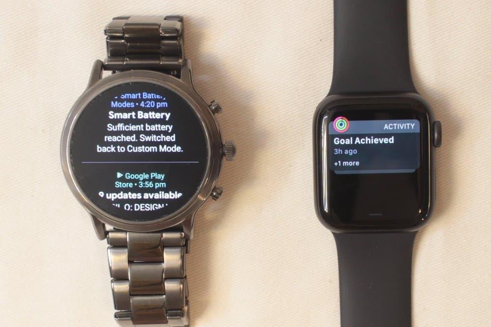 fossil gen 5 carlyle vs apple watch series 5 notifications