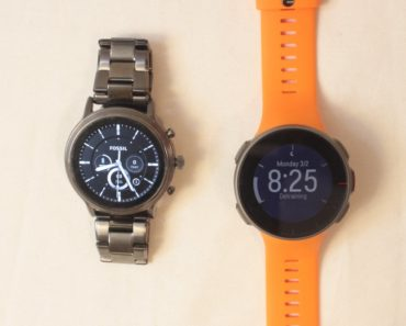 fossil gen 5 carlyle vs polar vantage v main watch face