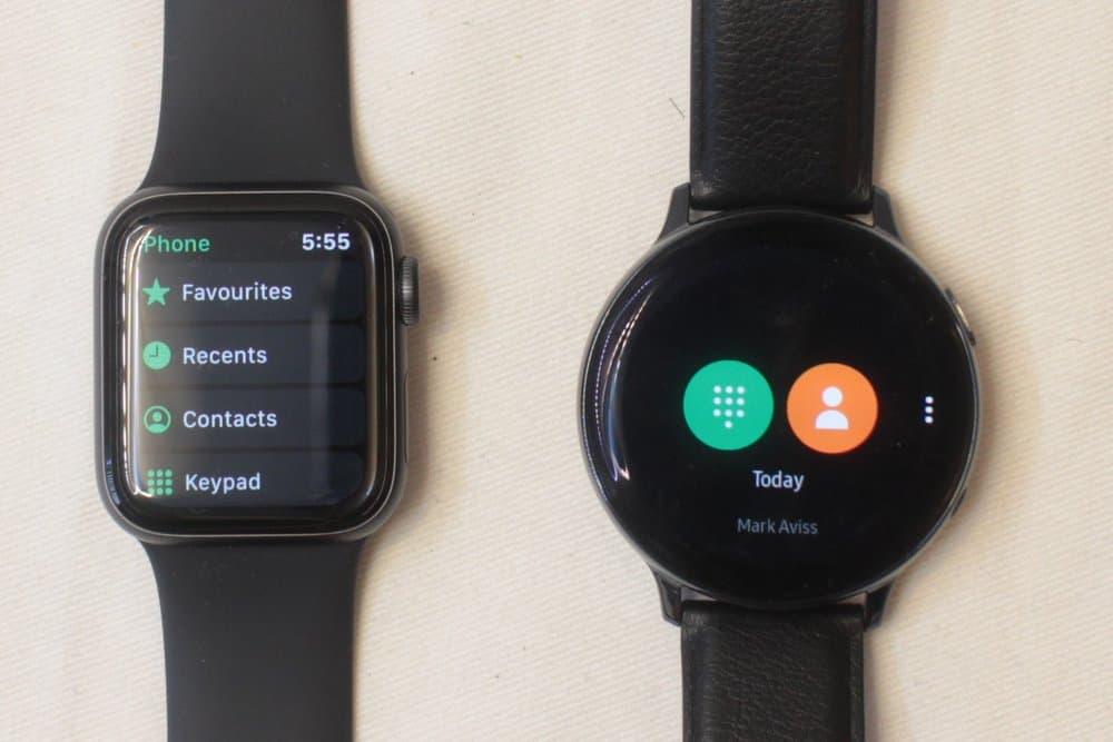 Samsung Galaxy Watch Active 2 vs Apple Watch Series 5 calls