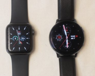 Samsung Galaxy Watch Active 2 vs Apple Watch Series 5 watch face