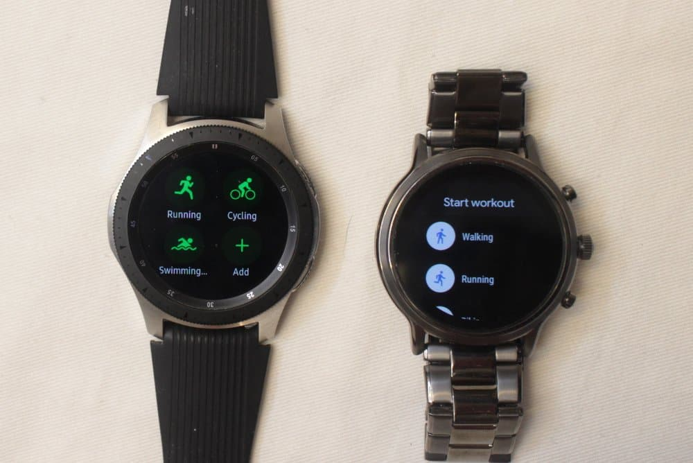 Samsung Galaxy Watch vs Fossil Gen 5 Carlyle workout