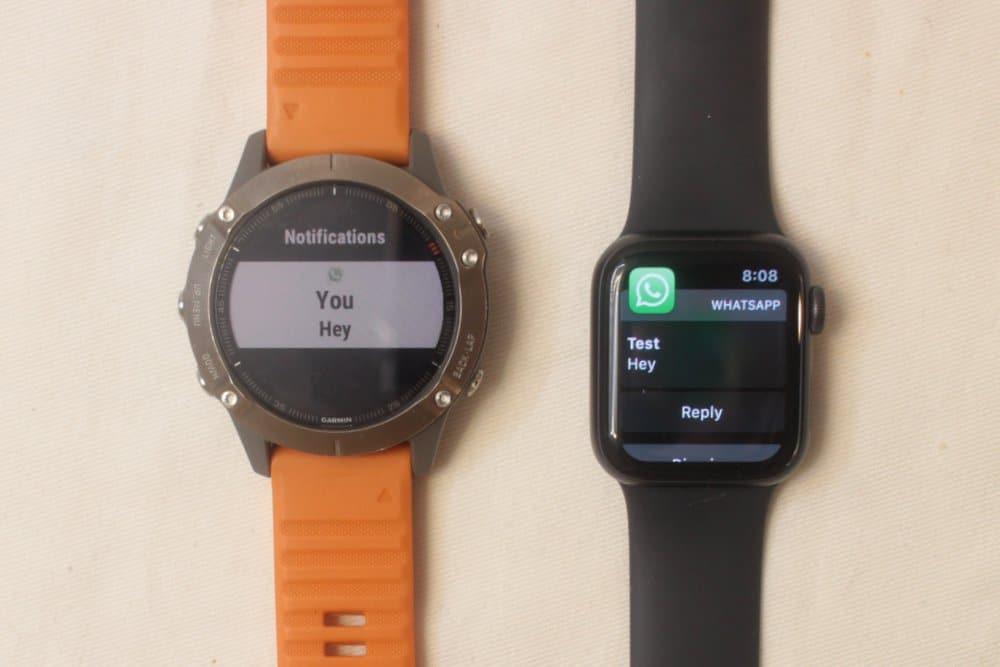 garmin fenix 6 apple watch series 5 text