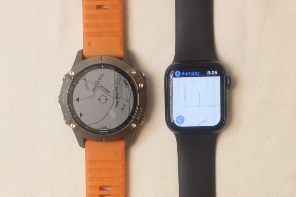 garmin fenix 6 apple watch series 5 maps