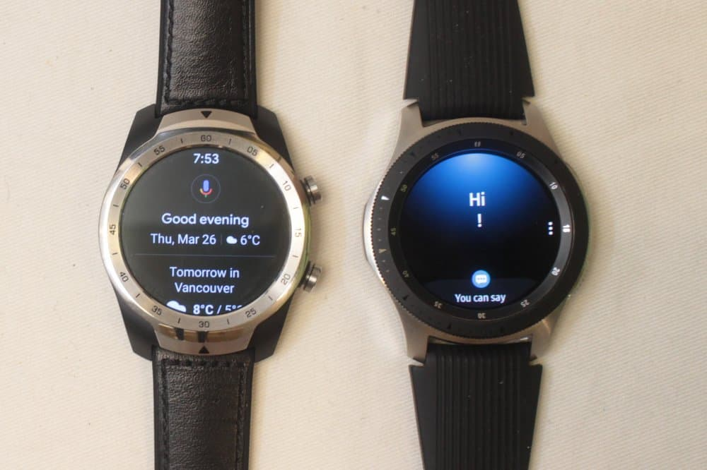 samsung galaxy watch ticwatch pro bixby and google assistant