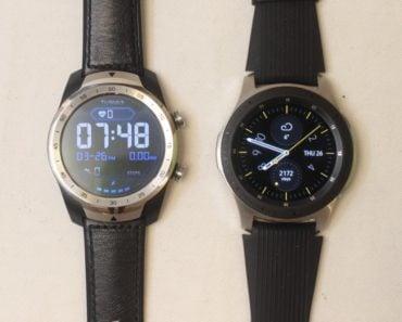 samsung galaxy watch ticwatch pro main screen