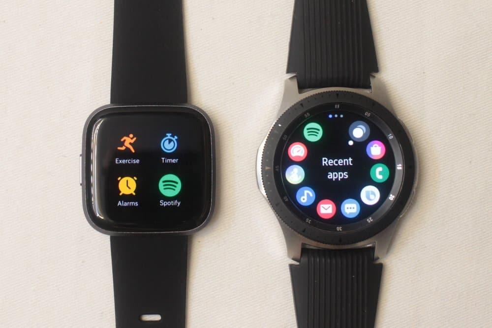 galaxy watch vs fitbit versa 2 apps