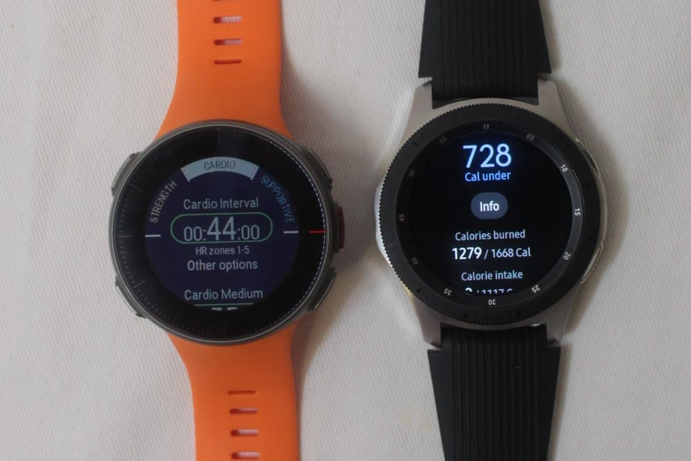 samsung galaxy watch vs polar vantage v exercise special features